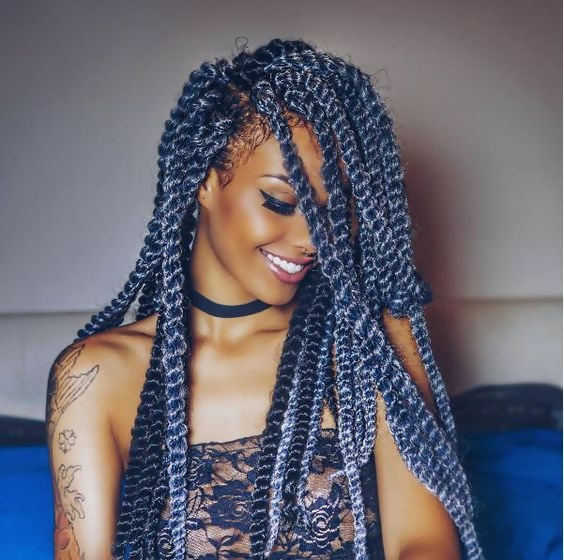 30 Fashion Kinky Twist Hairstyle Ideas for Fall 2019 3
