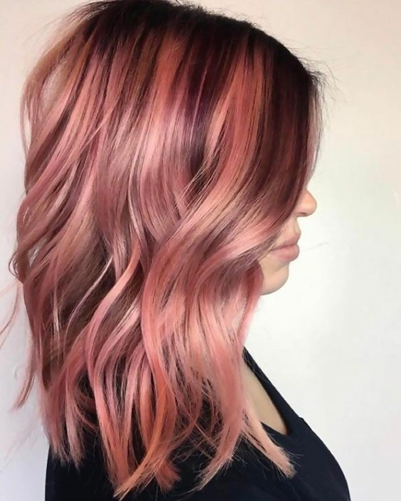 30 Delicious Rose Gold Hair Color Ideas For The All Season 6