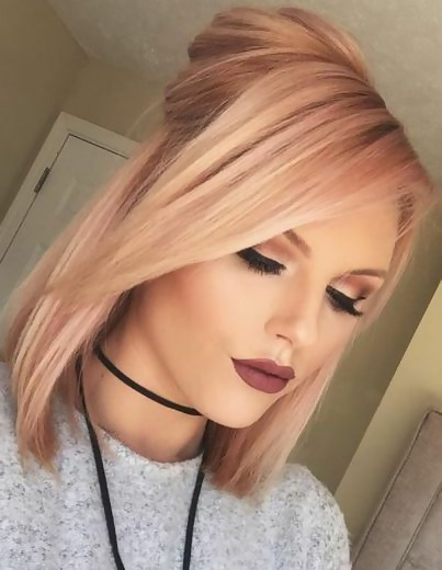 30 Delicious Rose Gold Hair Color Ideas For The All Season 10