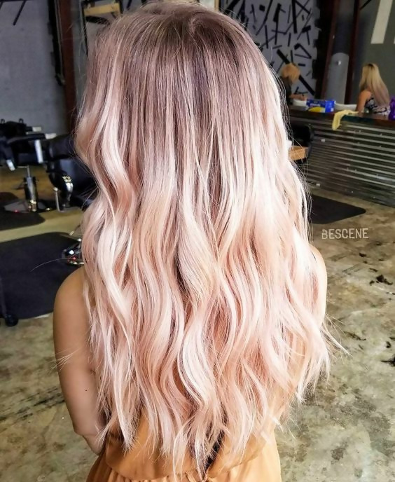 30 Delicious Rose Gold Hair Color Ideas For The All Season 23
