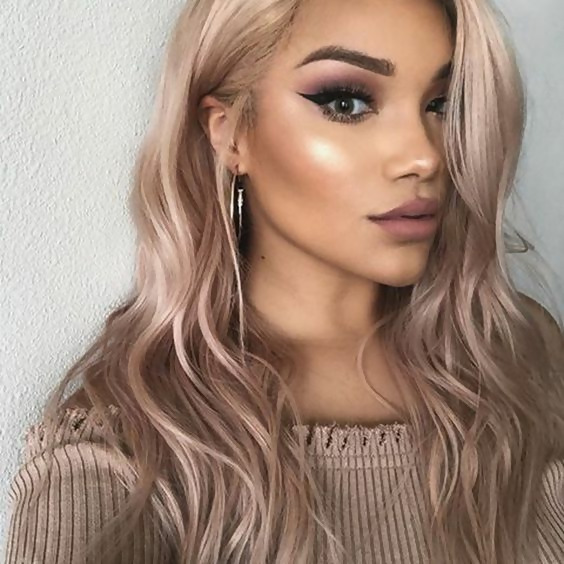 30 Delicious Rose Gold Hair Color Ideas For The All Season 25