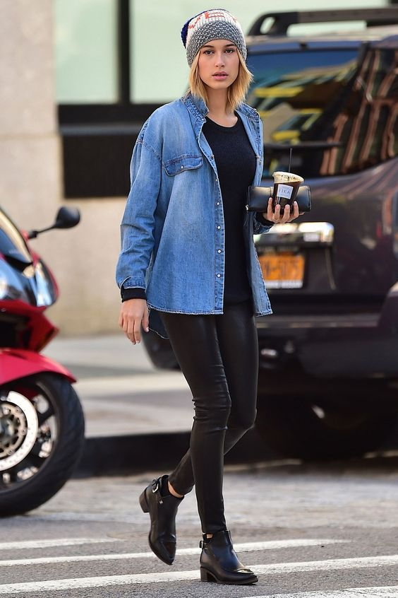 28 Hailey Baldwin's Tomboy Style Outfit Ideas to Copy 20