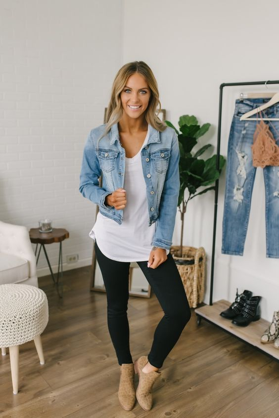How to Wear a Denim Jacket: 33 Jean Jacket Outfit Ideas 2