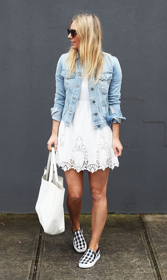 How to Wear a Denim Jacket: 33 Jean Jacket Outfit Ideas 12