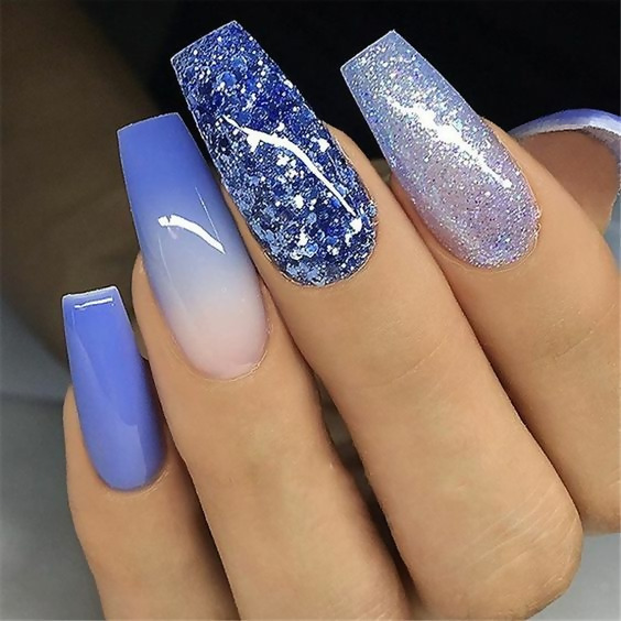 50 Different Ways To Style Glitter Nails 9