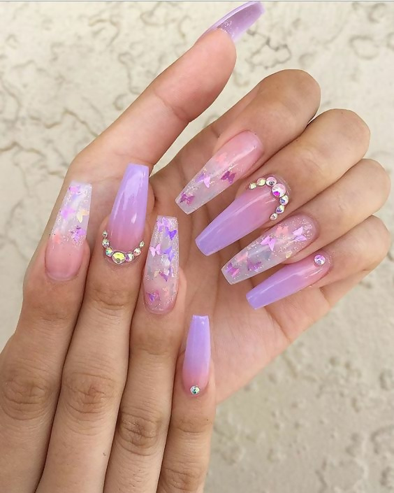 50 Different Ways To Style Glitter Nails 25