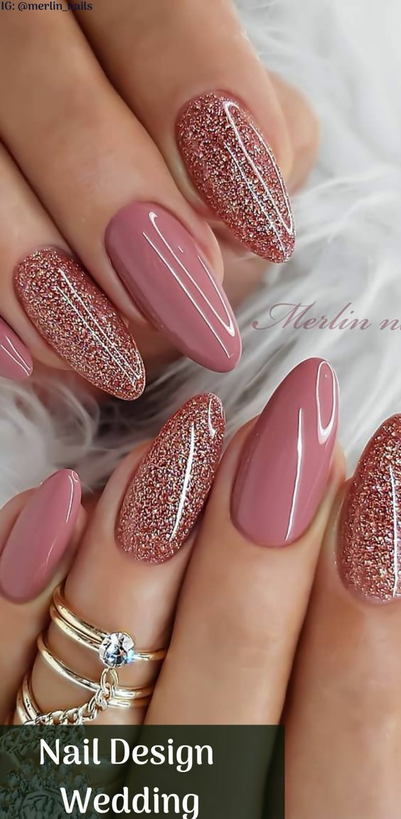 50 Different Ways To Style Glitter Nails 27