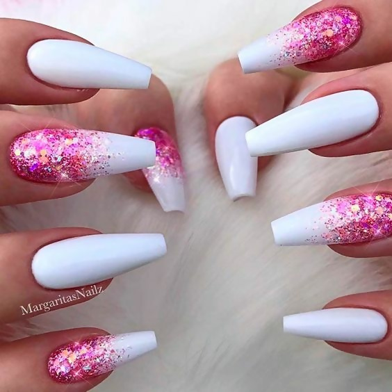 50 Different Ways To Style Glitter Nails 45