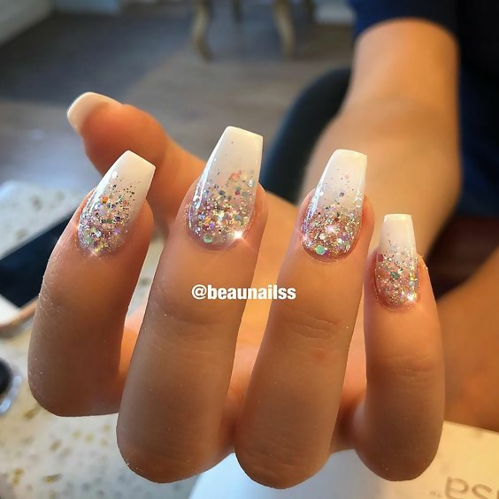 50 Different Ways To Style Glitter Nails 48