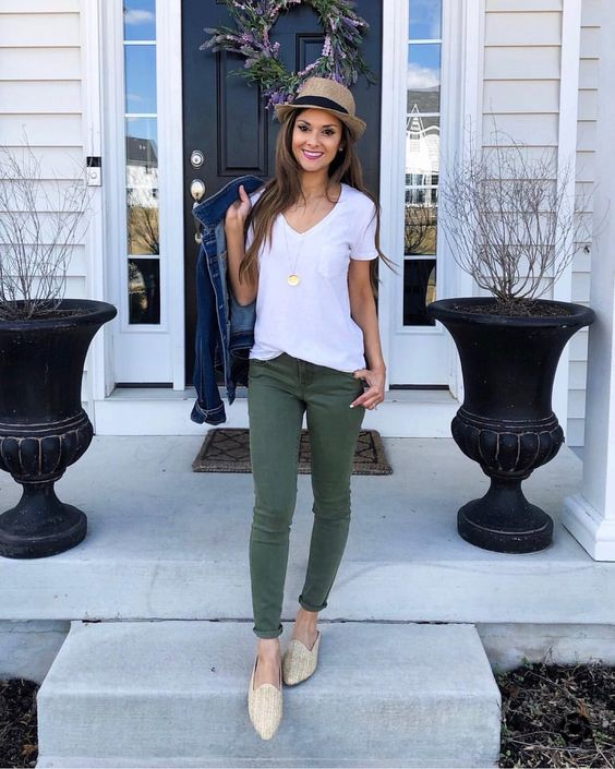 What to Wear With Green Pants: 32 Modern Outfit Ideas 10