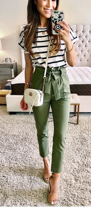 What to Wear With Green Pants: 32 Modern Outfit Ideas 12