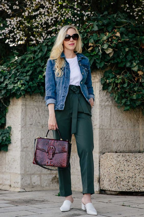 What to Wear With Green Pants: 32 Modern Outfit Ideas 14