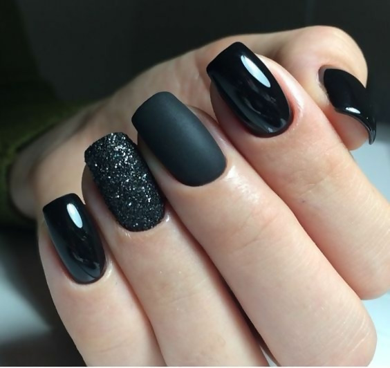 30 Creative Black Acrylic Nails Design Ideas to Try 1