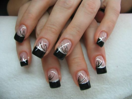 30 Creative Black Acrylic Nails Design Ideas to Try 14