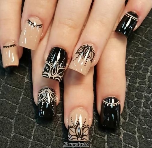 30 Creative Black Acrylic Nails Design Ideas to Try 15