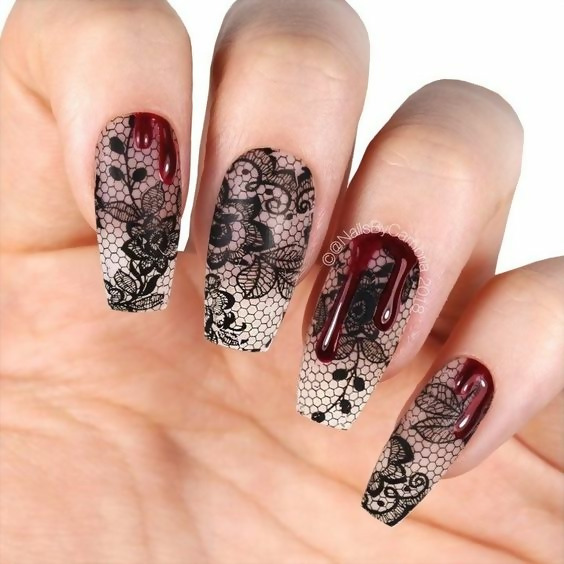 30 Creative Black Acrylic Nails Design Ideas to Try 19