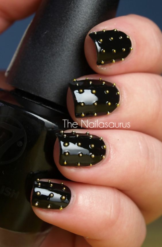 30 Creative Black Acrylic Nails Design Ideas to Try 24