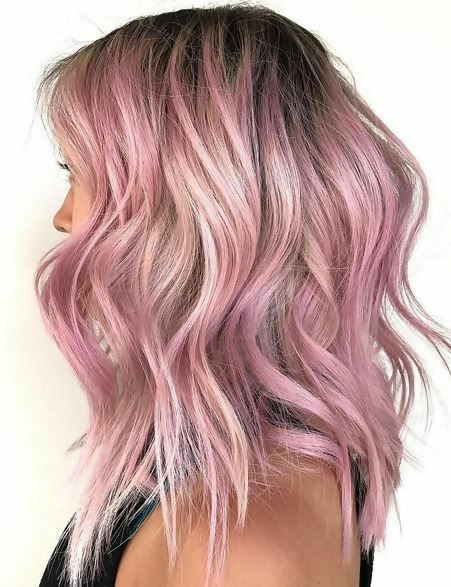 30 Picture-Perfect Styles For Pastel Pink Hair 27