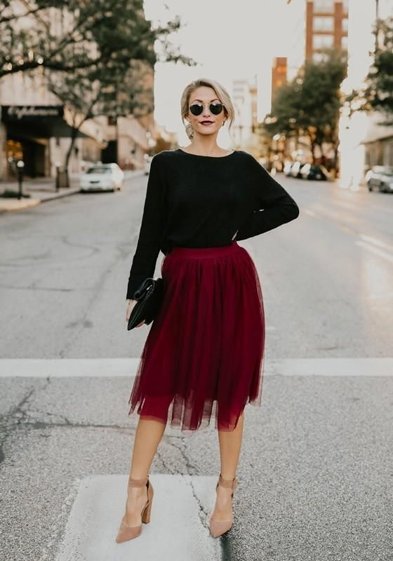 6 Best Tips and Ideas on How to Wear Tulle Skirt Outfits 1