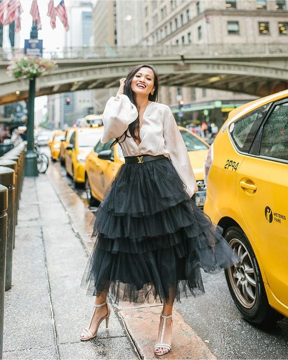 6 Best Tips and Ideas on How to Wear Tulle Skirt Outfits 7