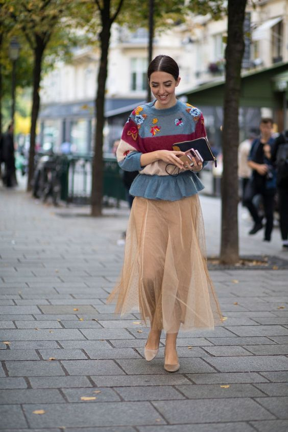 6 Best Tips and Ideas on How to Wear Tulle Skirt Outfits 14