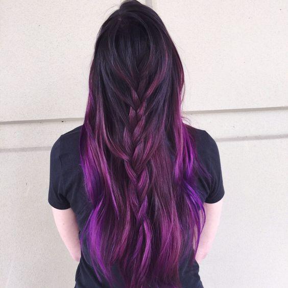 30 Gorgeous Purple Ombre Hair Color Ideas 1
