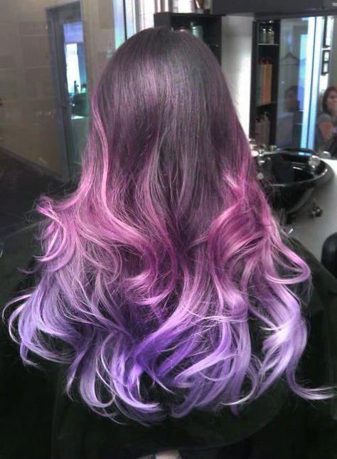 30 Gorgeous Purple Ombre Hair Color Ideas 5