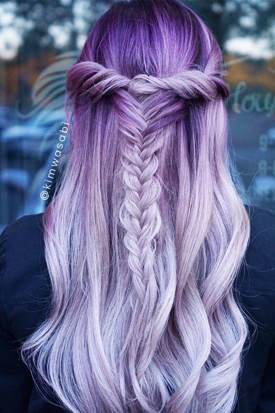 30 Gorgeous Purple Ombre Hair Color Ideas 7