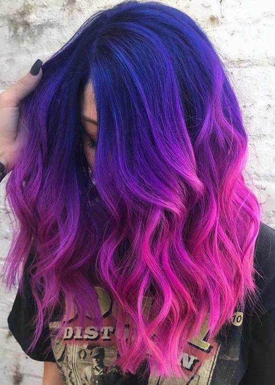 30 Gorgeous Purple Ombre Hair Color Ideas 8