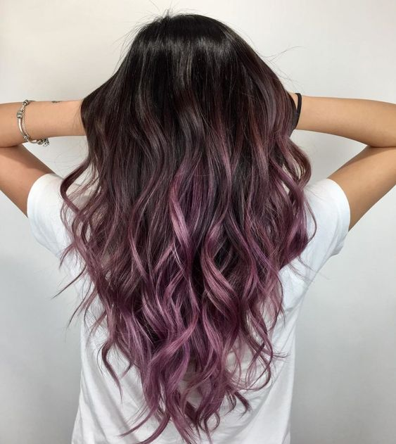 30 Gorgeous Purple Ombre Hair Color Ideas 9