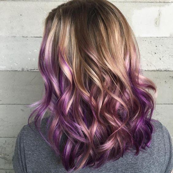 30 Gorgeous Purple Ombre Hair Color Ideas 11