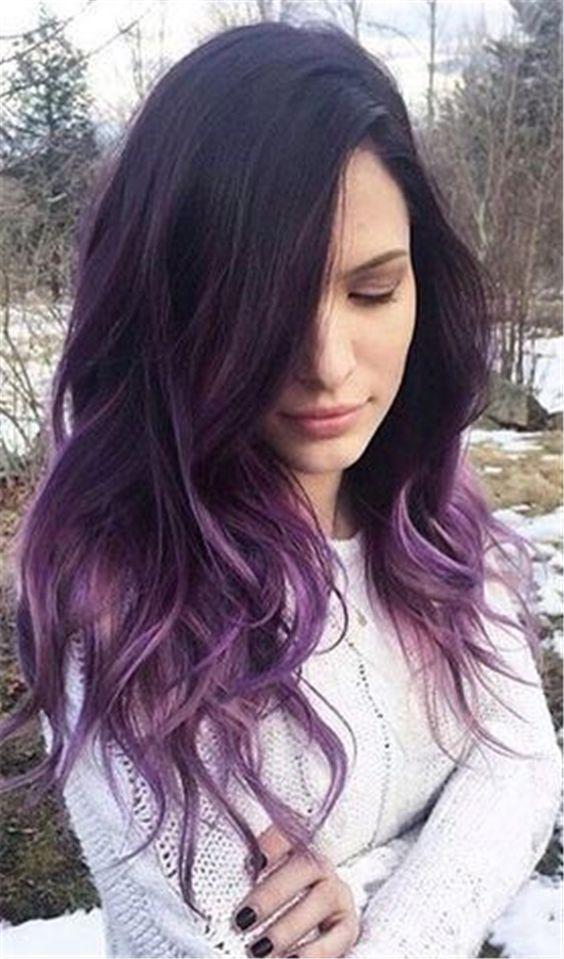 30 Gorgeous Purple Ombre Hair Color Ideas 13