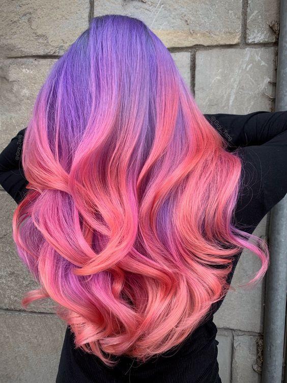30 Gorgeous Purple Ombre Hair Color Ideas 15