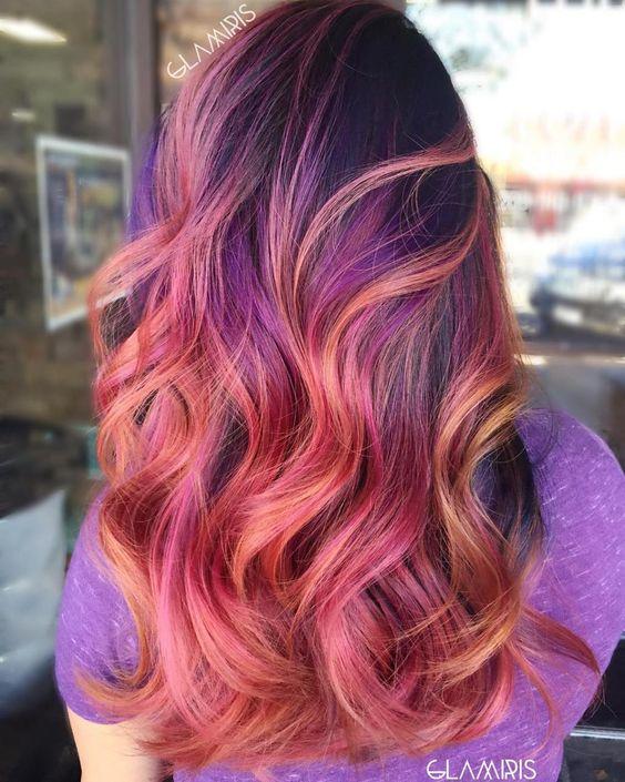 30 Gorgeous Purple Ombre Hair Color Ideas 18