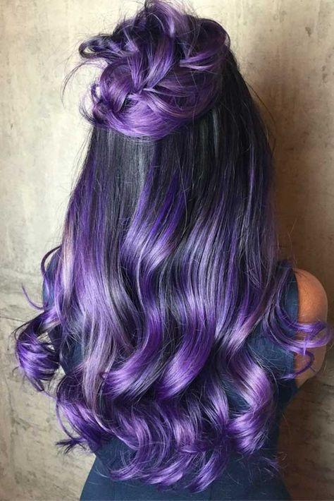 30 Gorgeous Purple Ombre Hair Color Ideas 19