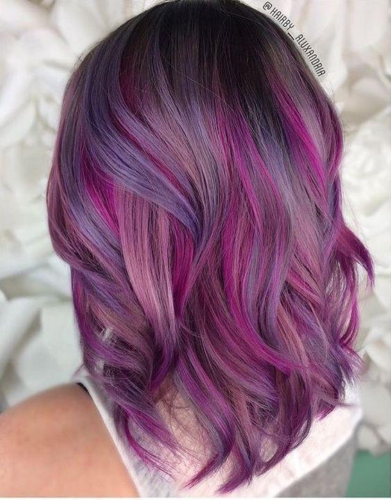 30 Gorgeous Purple Ombre Hair Color Ideas 23
