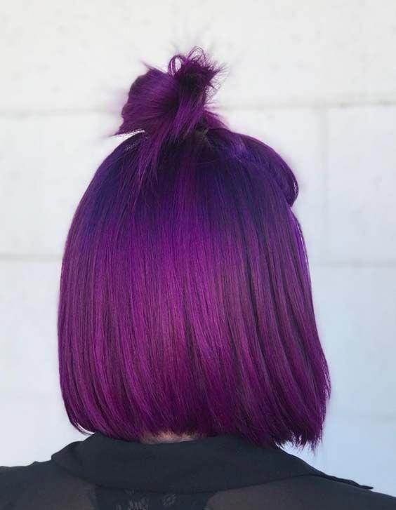 30 Gorgeous Purple Ombre Hair Color Ideas 29