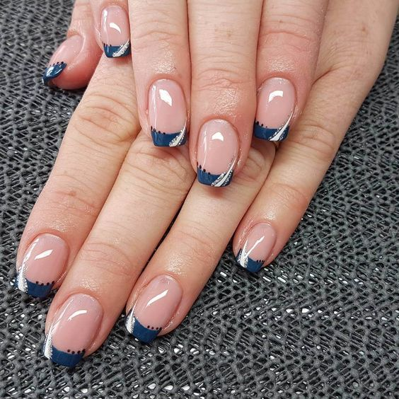 30 Unique Ideas on How to Bump Up French Tip Nails 5