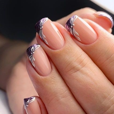 30 Unique Ideas on How to Bump Up French Tip Nails 9