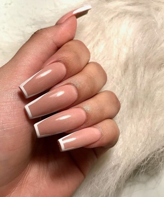 30 Unique Ideas on How to Bump Up French Tip Nails 18