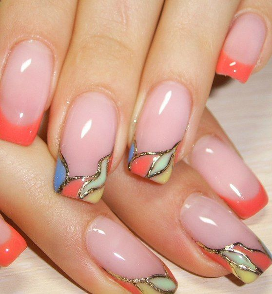 30 Unique Ideas on How to Bump Up French Tip Nails 28