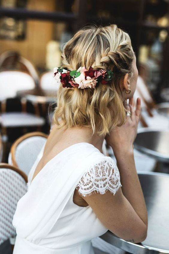 30 Mesmerizing Wedding Hairstyles for Short Hair 1
