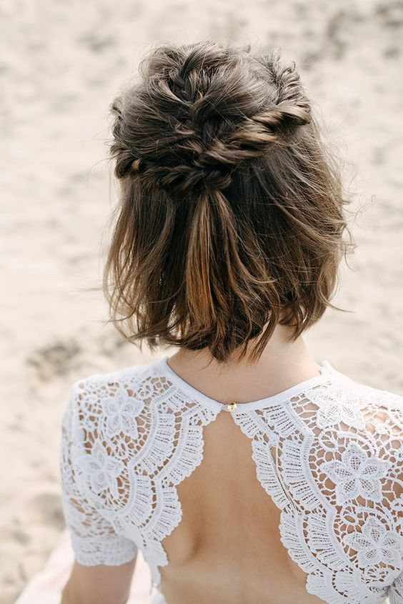 30 Mesmerizing Wedding Hairstyles for Short Hair 3