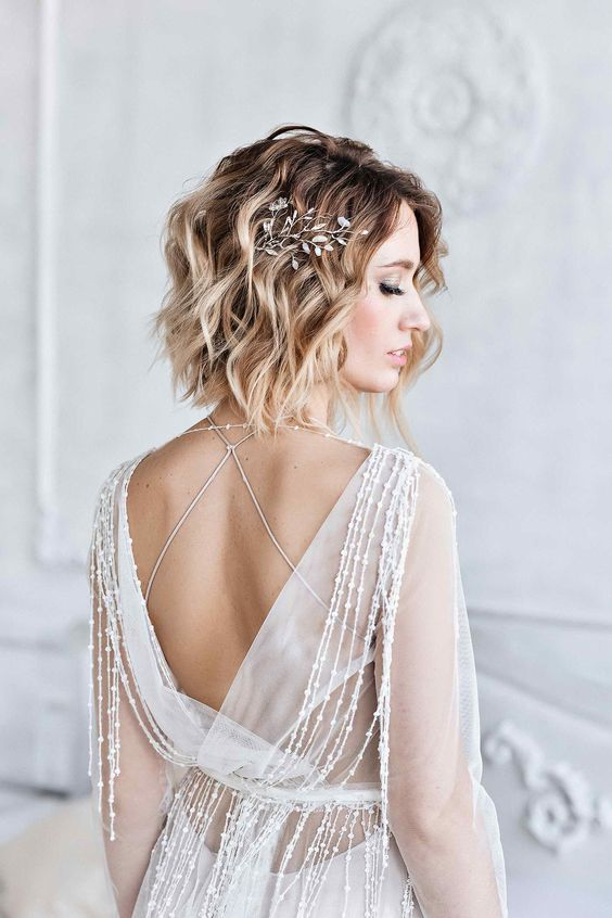 30 Mesmerizing Wedding Hairstyles for Short Hair 6