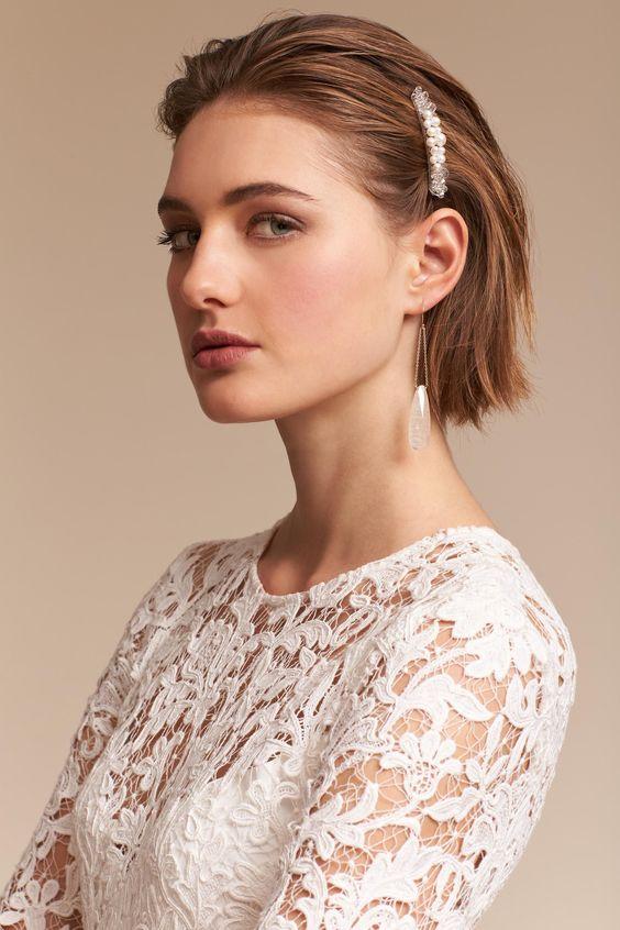 30 Mesmerizing Wedding Hairstyles for Short Hair 8
