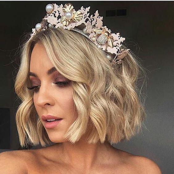 30 Mesmerizing Wedding Hairstyles for Short Hair 11