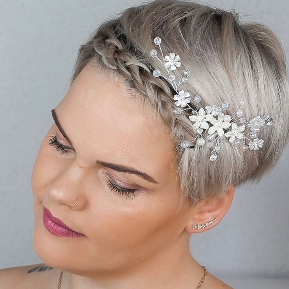 30 Mesmerizing Wedding Hairstyles for Short Hair 13