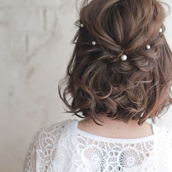 30 Mesmerizing Wedding Hairstyles for Short Hair 15