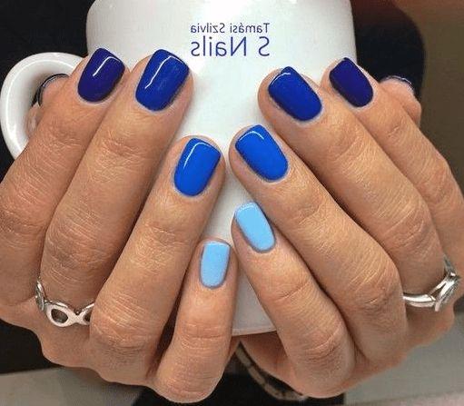 30 Glamorous Blue Nail Designs for Fashion Pros 2