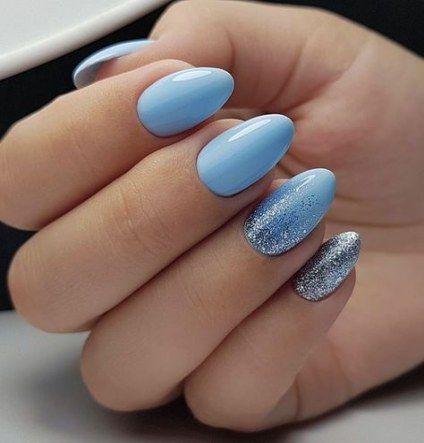 30 Glamorous Blue Nail Designs for Fashion Pros 10